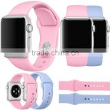 BST 22 colors sports silicone rubber straps watch band for Apple Watch , for apple watch band