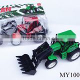 cheap plastic farm tractor toy, friction farm truck, tool truck toy for kids