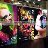 Haining 440gsm 300*500 18*12 backlit pvc flex banner sheet hot / cold lamiantion printing material for outdoor advertisement