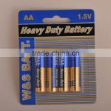 W&S BATT brand R6P Mercury Free Carbon Zinc Battery (2/4 pcs shrink pack or blister pack)