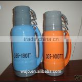 glass vacuum flask, glass thermos, plastic thermos flask, bottle, thermo with glass liner