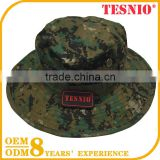 Outdoor Camo Hat Breathable Boonie Hat Sun hat Snap Up sides,Chin Strap & Mesh Air Holes