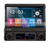Winmark 7 Inch 1 Din Car Stereo DVD Player Stereo With Motorized Retractable Monitor GPS Bluetooth Radio Mirror-Link Universal