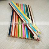 "7"" standard size hexagonal shape high quality natural wood colored pencil with striped"