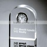 Arch Shaped Glass Desk Clock for Sport Souvenirs