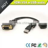 Vision VGA input to HDMI output with usb&audio adapter