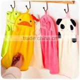 Sweet Candy Color Super Soft Coral Fleece Creative Cartoon Hand Towel