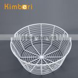 fashionable high quality cream supermarket round iron wire basket