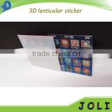 custom made christmas PET 3d lenticular sticker