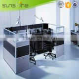 New Office Furniture Workstation Layout Soundproof Partition Used Glass Wall Cubicle Workstation