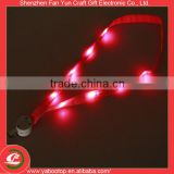 Safety Eco-friendly custom heat transfer promotional flat led lanyard                                                                                                         Supplier's Choice