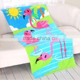 Environment Friendly Natural cotton animal printing kids beach towel from China
