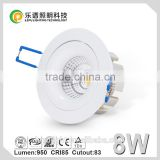 High quality Dimmable wholesale 5 year warranty 8W housing dimmable cob led downlight