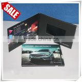 Lcd invitation card, lcd video brochure card, lcd advertising player