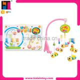 toys market in shantou electric musical lovely rotating bed bell plastic baby toy