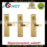 Intelligent electronic hotel door handle locks suppliers with hotel card key lock system