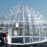 Durable commercial igloo inflatable clear tent