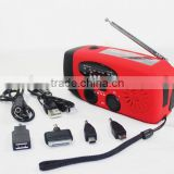 Emergency 3 LED Flashlight Torch AM FM Radio Charger / LED Flashlight Self Power Bank / power bank+fm radio+flashlight