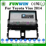 FUNWIN Bluetooth Car Usb Interface 2 Din Radio GPS Navigation System Pure Android 4.4 Car Stereo For Toyota Vios 2014