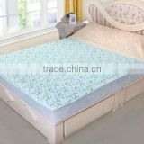TPU Laminated New Design Light Blue Terry Age Group Bed Sheet Cotton