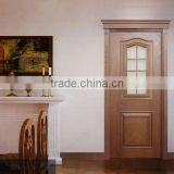 Country Style Glued Laminated Timber Classic Solid Interior Wood Doors mdf doors pvc doors