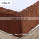 dark brown professional message knitted hotel bed skirt