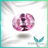 CZ Oval Pink Cubic Zirconia Material for Jewelry