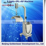 Skin Tightening Www.golden-laser.org/2013 New Style E-light+IPL+RF Shrink Trichopore Machine Breast Enlargement Device 515-1200nm