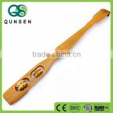 Back scratcher with long handle bamboo roller massager