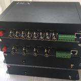 4chs HD-SDI video  with one RS485 data Fiber Optic Transmitter and Receiver,SDI PTZ camera to fiber converter