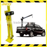 Folding electric pickup truck hoist
