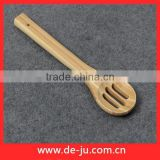 Natural Bamboo Short Wide Thick Handle Dessert Spoon