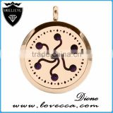 20mm/25mm/30mm round high quality locket pendant stainless steel diffuser necklace