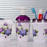 beautiful bathroom three set series/plastic toothbrush holders sets /Bath bottles toothbrush cup soap box