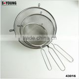 43016 Set of 3 Fine Mesh Stainless Steel Strainers