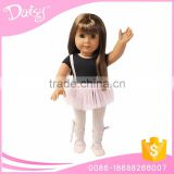Wholesale oem fashion design small vinyl girls doll ballet dance mini lace skirt dress clothing