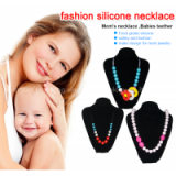 Silicone Baby Chew Bead Necklace