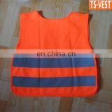 EN1150 Hi Vis Fluorescent Red Kintted Security Refleection Child Waistcoat