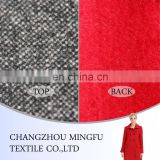 Wool polyester fabric for office staff suit uniform, winter coats, double side wool fabric