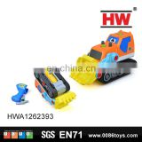 Cartoon feature B/O plastic toy truck disassembled toy bulldozer