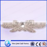 Exquisite handmade crystal rhinestone pearl beading wedding gown accessories Czech stones Belts a formal wedding
