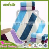 Wholesale Super Soft Stripe Cut Pile 100% Cotton Hand Towel