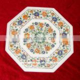 Marble Stone Inlay Coffee Table Top Pietra Dura Table Top