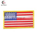 Tajima embroidery machine custom badge American embroidery flag patch