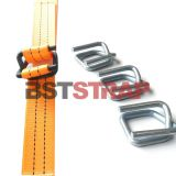 Strong Tensile 32mm Composite Strap Wire Buckle Metal Steel  Buckle for woven lashing strap