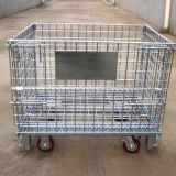 Welded heavy duty wire storage basket with wheels