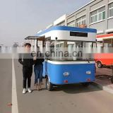 CE OEM GAS food truck/ELECTRICAL TRICYCLE ice cream machine/donut food vending carts for sale with BIG WHEEL and TOWED BAR