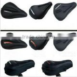 Black soft gel relief bike saddle seat cushion pad cover (straight and triangle groove)