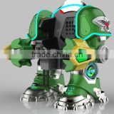 battery operated battle king robot in transformer sculpture with fighting mode iron man robot for playground