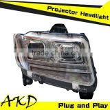 AKD Car Styling LED Headlight for JEEP Compass Headights 2012-2014 Compass LED headlight Head Lamp Projector Bi Xenon Hid H7